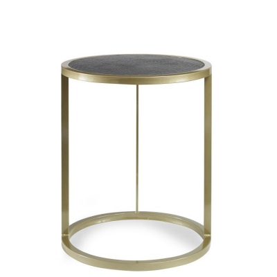 Century Halo Accent Table with Croc Insert