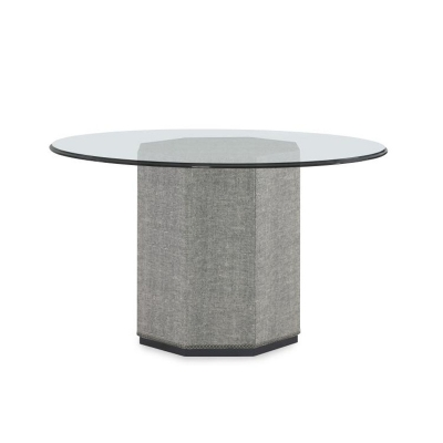 Century Upholstered Dining Table Base For Glass Tops