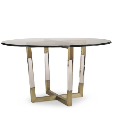 Century Metal Acrylic Dining Table Base For Glass Tops