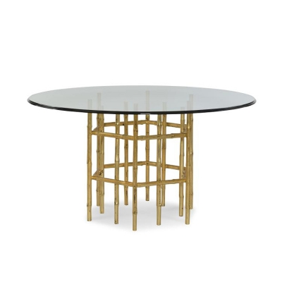 Century Jasper Dining Table With 54 inch Tempered Glass Top