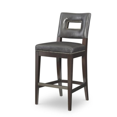 Century Leather Bar Stool