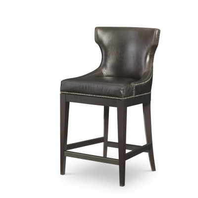 Century Leather Counter Stool