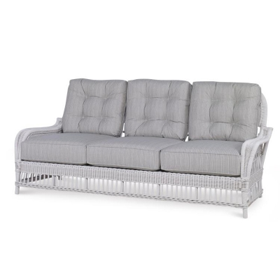 Century Mainland Wicker Sofa with Buttons