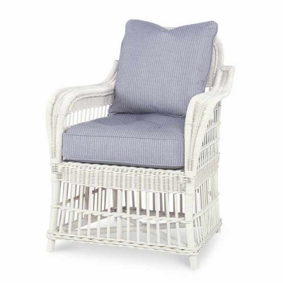 Century Mainland Wicker Large Dining Arm Chair