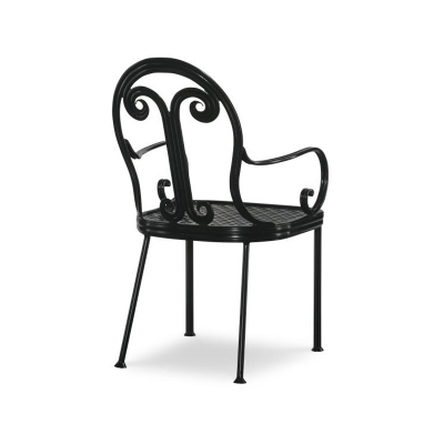 Century Augustine Metal Dining Arm Chair