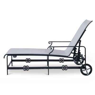 Century Augustine Metal Articulating Sling Chaise