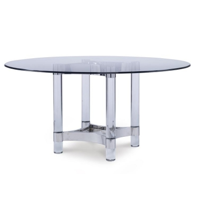Century Acrylic and Metal Dining Table Base