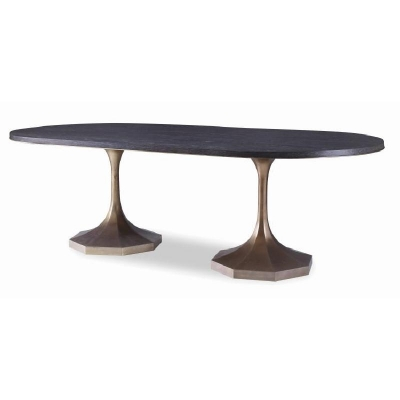 Century Blake Gold Double Pedestal Dining Table