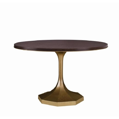 Century Molly Gold Pedestal 48 inch Dining Table