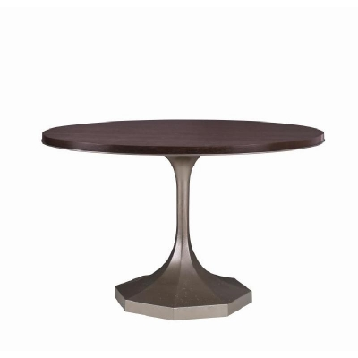 Century Molly Silver Pedestal 48 inch Dining Table