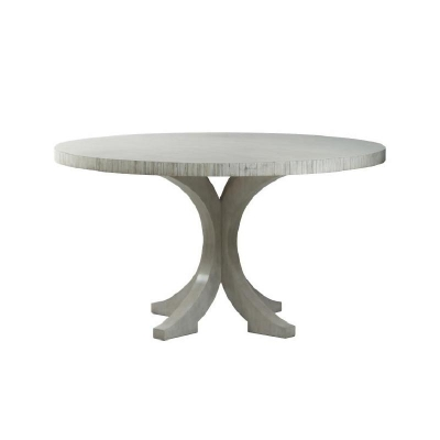 Century Carlyle Round Dining Table Mink Grey