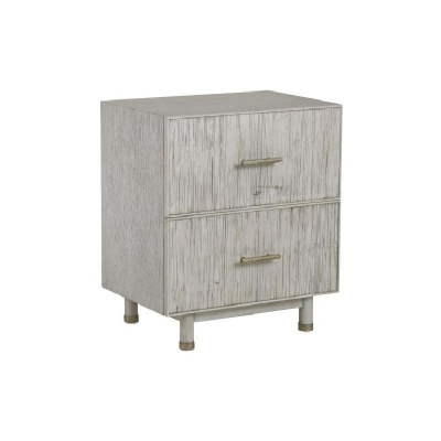 Century Biscayne 2 Drawer Nightstand Mink Grey