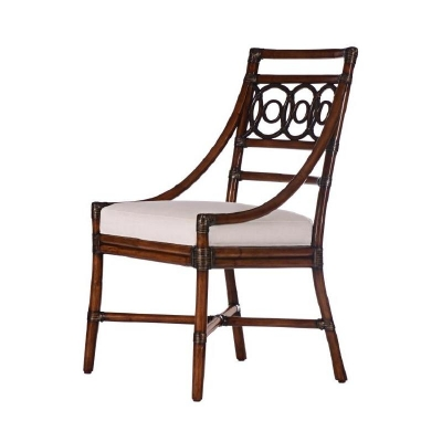 Century Circles Side Chair Flax