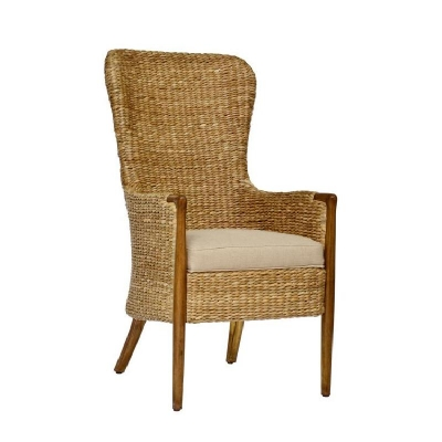 Century Seagrass Dining Chair Flax
