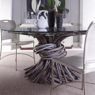 Century Knot Dining Table Grey