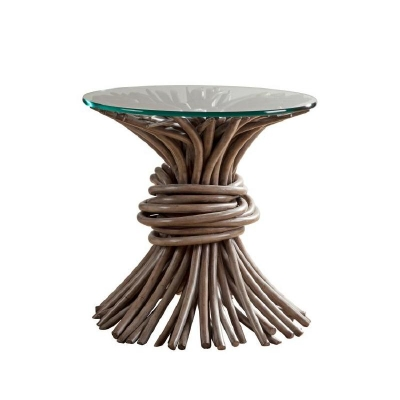 Century Knot End Table Grey