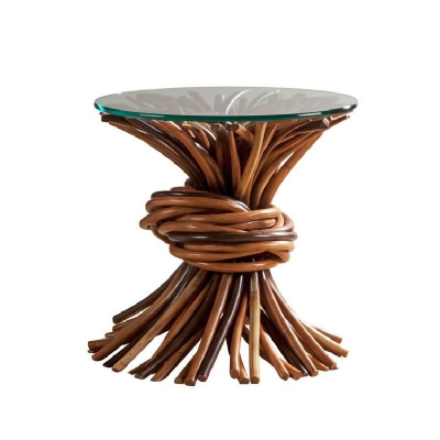 Century Knot End Table Natural