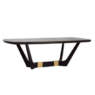 Century Giles 96 inch Dining Table Java