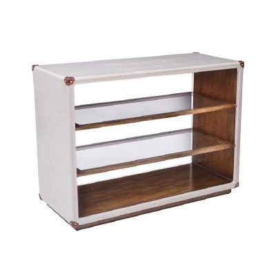 Century Canvas Open Bookcase Ivory