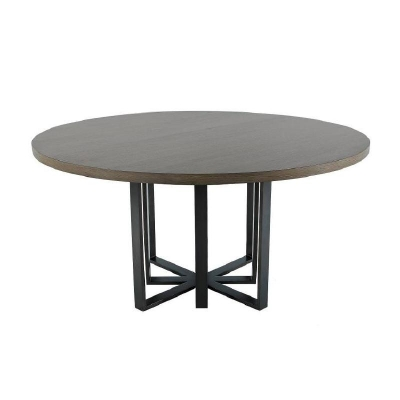 Century Fripp Round Dining Table Mink Grey
