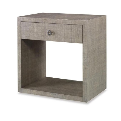 Century Charleston Large Nightstand with Glass French Grey