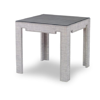 Century Monterey Bunching Table with Glass French Grey