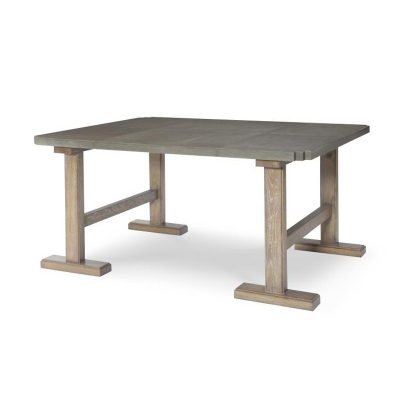 Century Whistler Low Work Table With Veneer Top