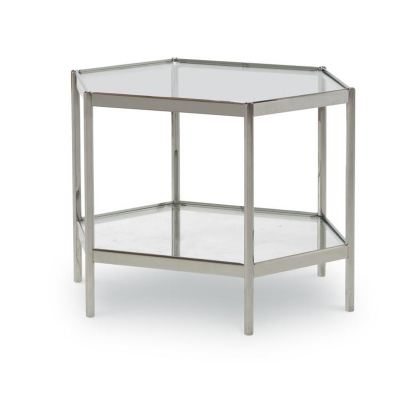 Century Dax Side Table With Glass Top