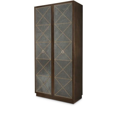 Century Upholstered Tall Cabinet