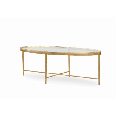 Century Logan Large Oval Cocktail Table