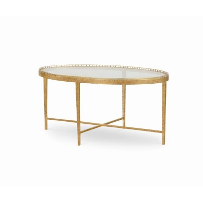 Century Logan Small Oval Cocktail Table