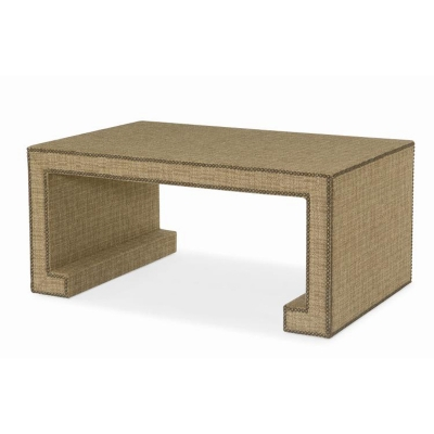 Century Fully Upholstered Cocktail Table