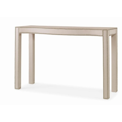 Century Fully Upholstered Console Table