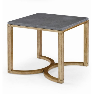 Century Curule Bunching Cocktail Table with Stone Top