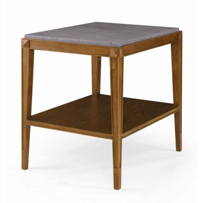 Century Lorrain Side Table with Stone Top
