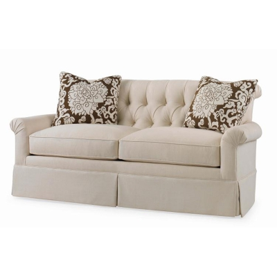 Century Hampton Skirted Settee