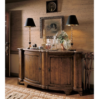 Century Somerset Credenza With Brown Marble Top