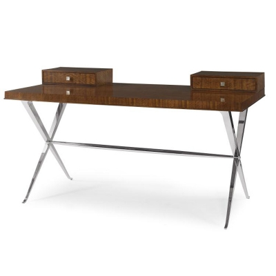 Century Desk With Metal Base