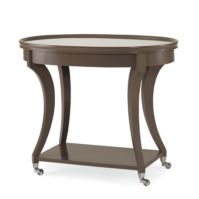 Century Lamp Table With Mirror Insert Top
