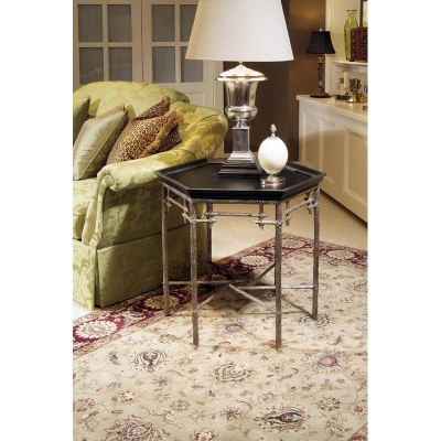 Century Lamp Table With Black Painted Top