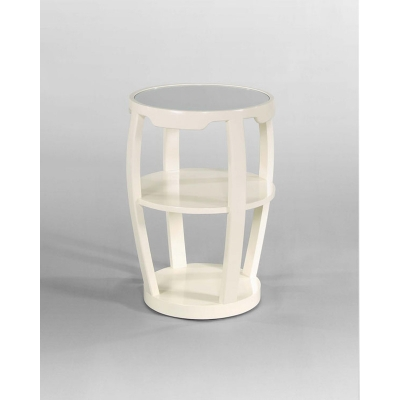 Century Chairside Table With Mirror Insert Top