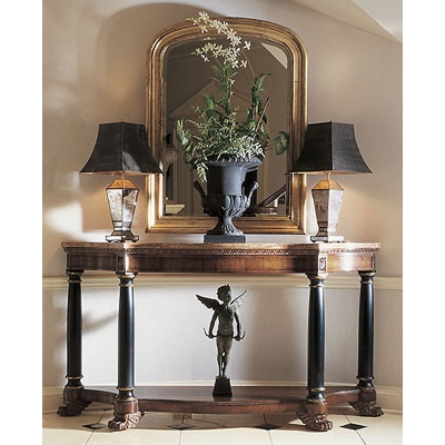 Century Empire Console With Marble Top