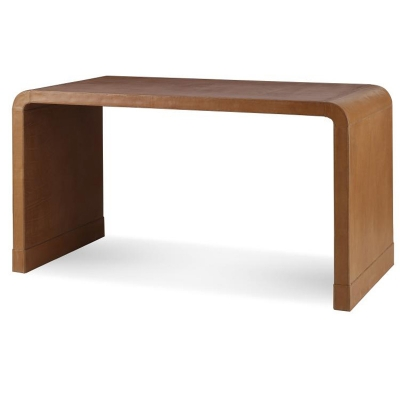 Century Leather Wrap Console Table