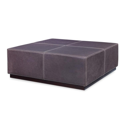 Century Square Cocktail Leather Ottoman