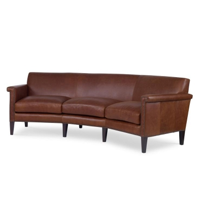 Century Wedge Leather Sofa
