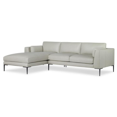 Century Two Piece Leather Sectional