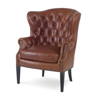 Century Leather Wing Chair