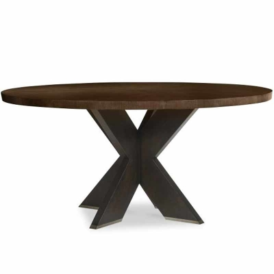 Century X Base Round Dining Table