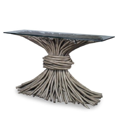 Century Knot Console Table French Grey