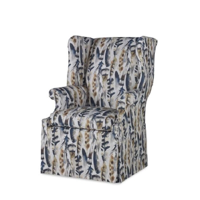 Century Leo Skirted Wing Chair